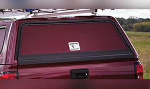Porte arrière avec insertion en fibre de verre peinturée